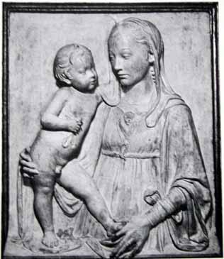 부조- '성모와 아기', 이탈리아